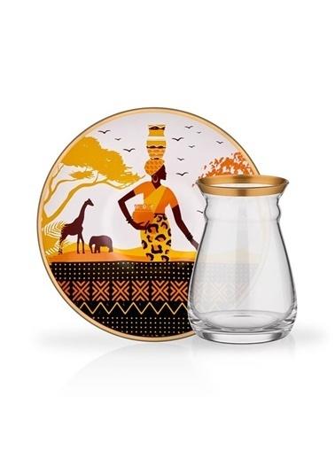 Glore Glore Nihavent Africa 6'Lı Çay Seti Renkli